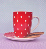 Vintage cookies and cup of coffee — Stock Photo