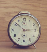 Old brown vintage clock — Stock Photo