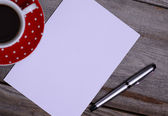 Blank Paper ready for your own text — Stock Photo