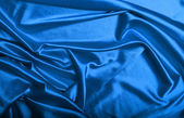 Blue silk background texture — Stock Photo