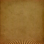 Brown vintage stripe room background — Stock Photo