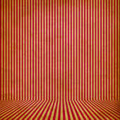 Red vintage stripe room background — Stock Photo
