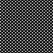 Svart bakgrund med vita prickar mönster — Stockfoto