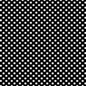 Black background with white polka dots pattern — Stock Photo