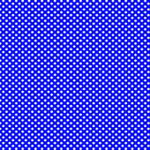 Blue background with white polka dots pattern — Stock Photo
