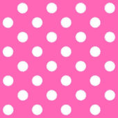 Painted White Polka Dot on pink background — Stock Photo