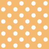 Painted White Polka Dot on orange background — Stock Photo