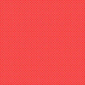 Red background with white polka dots pattern — Стоковое фото