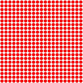 Red Polka Dot pattern background — Stock Photo
