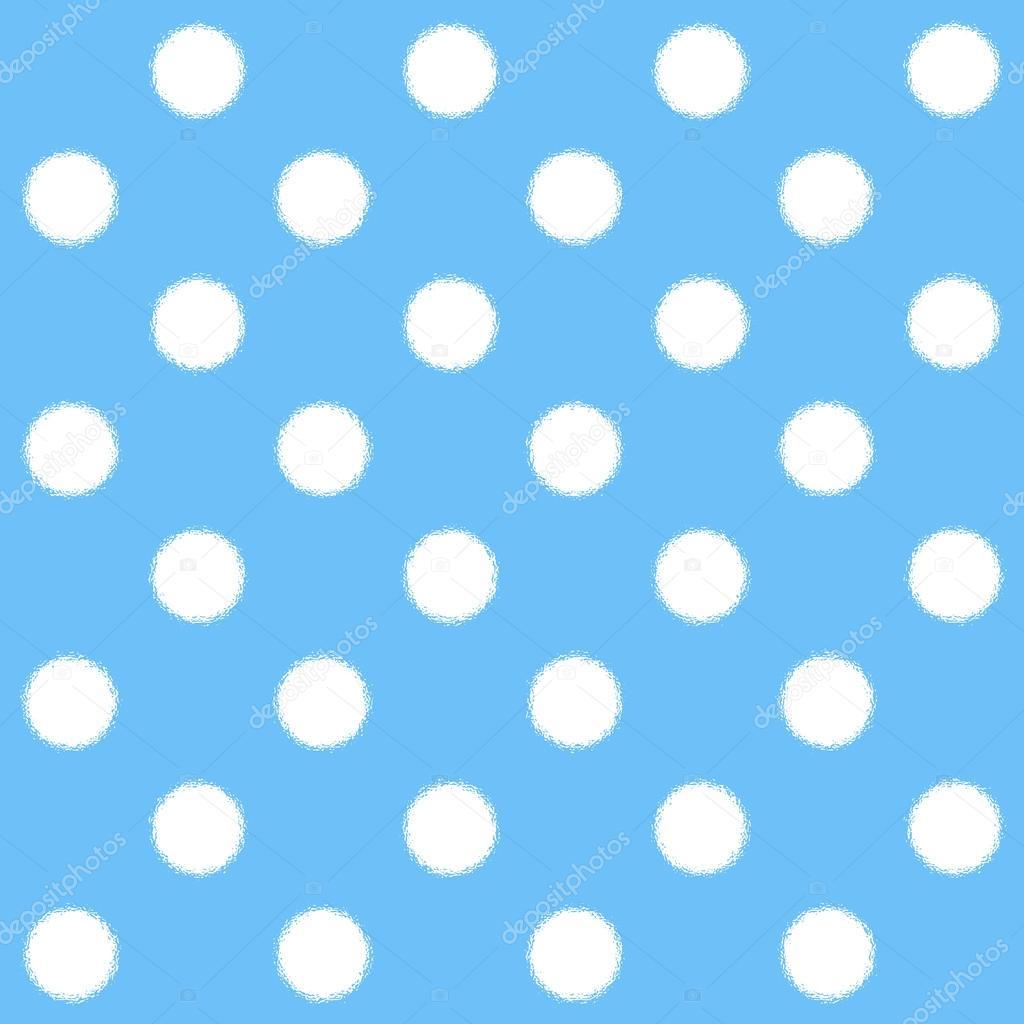 painted white polka dot on light blue background � stock