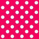 White Polka Dot on pink background — Stock Photo #41915735