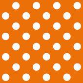 белый горошек на оранжевом фоне — Стоковое фото
