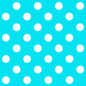 White Polka Dot on turquoise background — 图库照片