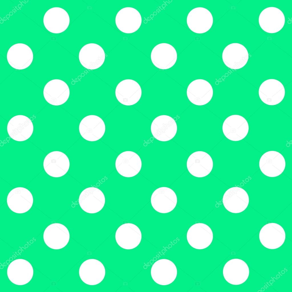 White Polka Dot on pastel green background — Stock Photo ...