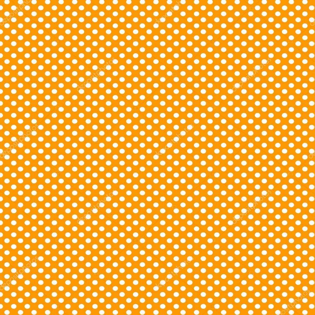 Orange and white polka dot background