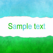 Turquoise and green canvas background with space for text — Stock Photo
