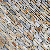 Beautiful diagonal stone wall — Foto de Stock