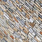 Beautiful diagonal stone wall — Photo