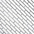 White diagonal brick wall — Stock Photo #43528443