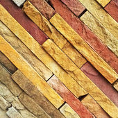 Colorful diagonal stone wall — Foto Stock