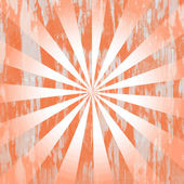 Orange distressed rays background — Stock Photo
