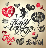 Valentines Day lettering — Vector de stock
