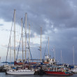 Yachts on the docks — Stockfoto