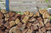 Stacked wood for the stove — Stock Photo