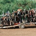 Cart with saddles — Stock Photo #38195719