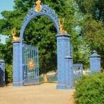 Gates with golden deer — Stock fotografie