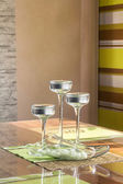 Candles in glass stands — Stock fotografie