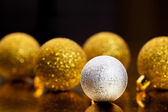 Christmass balls on dark background — Stock Photo