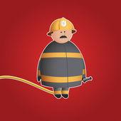 симпатичные пожарный векторный характер — Cтоковый вектор
