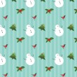 Vintage seamless christmas pattern — Stock Vector