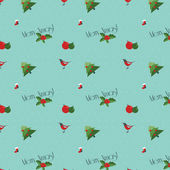 Vintage seamless christmas pattern — Vector de stock