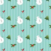 Vintage seamless christmas pattern — Stock Vector