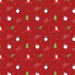 Glossy christmas seamless background pattern — Stock vektor