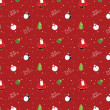 Glossy christmas seamless background pattern — Stock Vector