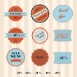 Vintage shopping elements set — Stock Vector