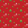 Glossy christmas seamless red background pattern — Stockvektor