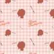 Vintage thanksgiving day seamless background pattern — Stockvectorbeeld