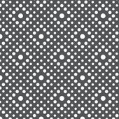 Seamless background pattern with white dots on gray background — Stock Vector