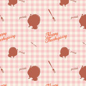 Vintage thanksgiving day seamless background pattern — Stock Vector