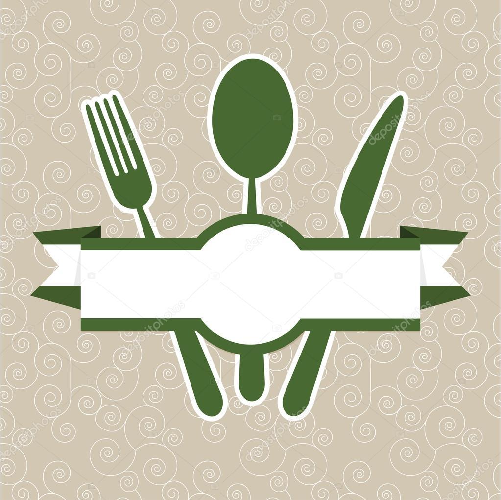 Restaurant Logo Editorial Template: Green Vintage Retro Restaurant Menu Cover Template Stock