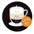 Caffe Breve coffee cup with price tag — ベクター素材ストック