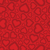 Bright red heart seamless background pattern — Wektor stockowy