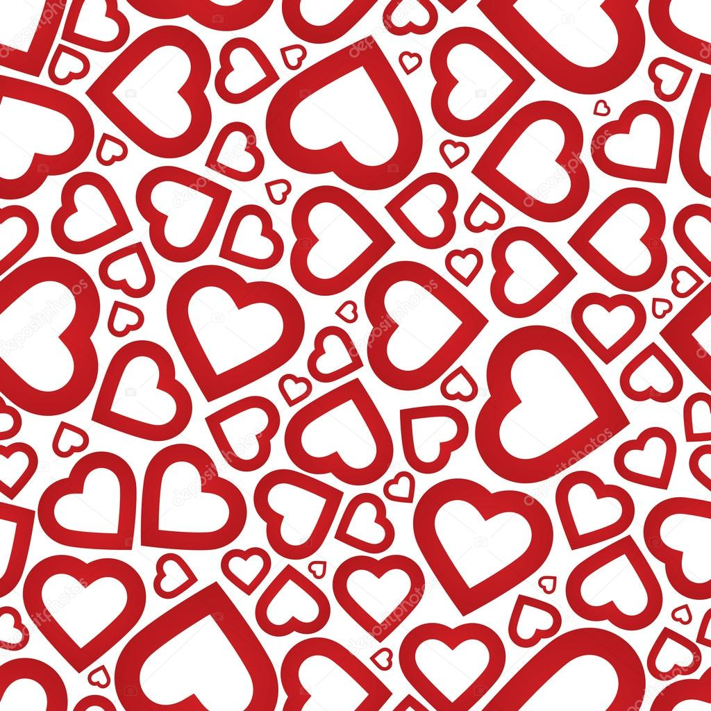 Bright red heart seamless background pattern — Stock Vector © ivan ...