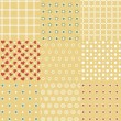 Set of 9 retro seamless background patterns - 图库矢量图片