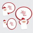 Set of 3 christmas labels - Stock Vector