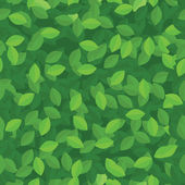 Green leaves seamless pattern — ストックベクタ